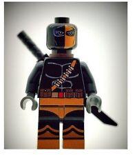 Custom Designed Minifigure - Black Deathstroke Printed On LEGO Parts
