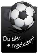 """Einladungskarten Kindergeburtstag m. Kuvert """"Fußball Einladung Kinder Kind Karte"""