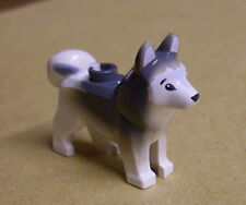 Lego Hund Husky Wolf - weiss braun - Tiere ( Huski Wolfshund Dog Wulf ) Neu