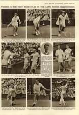 1952 Wimbledon Tennis Pat Todd J Borotra Jean Walker Smith Stag Beetle