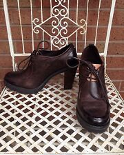Ladies Shoes, Lace Ups. Size UK6 ~CALVIN KLEIN ~ WORN ONCE. Brown. Leather.Heels