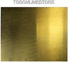 """Brass Sheet 20ga 12"""" x 12"""" .81mm Thick"""
