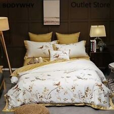 Luxury Egyptian Cotton  Bedding Sets Embroidery Bed Duvet Cover Bed Sheets Set