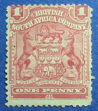 1898 RHODESIA 1d SCOTT# 60 S.G.# 77 UNUSED                               CS09670