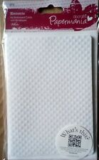 4 Pack Elements A6 Chequered Embossed Cards With Envelopes White 280gsm