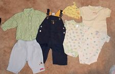 6-PIECE MIXED ITEM LOT Boys' 3-6 Month (pants/overalls/hat/one-pieces) EUC