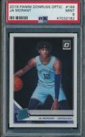 2019-20 Panini Donruss Optic JA MORANT Grizzlies Rated Rookie #168 Mint PSA 9