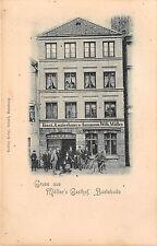 Buxtehude Möllers Gasthof Fahrradfahrer Postkarte