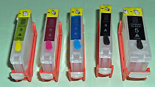 PGI-5 Pigment Black CLI-8 Dye BCMY Refillable Cartridges for CANON printer