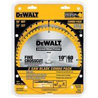 Dewalt Saw Blade 60-Tooth and 32-Tooth 10-Inch Saw Blades #DW3106P5