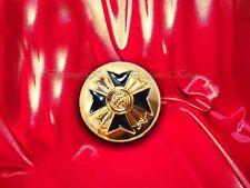 8 pcs. Metal buttons Gold & Black Masonic style Art buttons size 22mm.