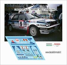 DECALS 1/43 LANCIA DELTA 8V HOLZER RALLY YPRES 1989