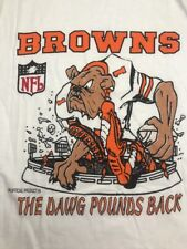"""vtg 99 Cleveland Browns The DAWG POUND's Back T-shirt Small 34"""" NOS signs of age"""