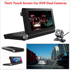 WiFi Bluetooth Dual Camera GPS Navigation Android Car Video Recorder Dash ADAS