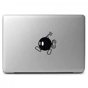 "Mario Bomb Black for Macbook Air Pro 11 13 15 17"" Laptop Vinyl Decal Sticker"