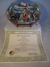 "Franklin Mint ""Kitty Car Troubles"" Oval Collector Plate with Box and Coa"