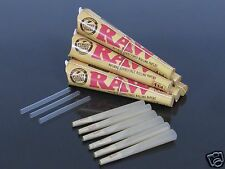 6 Pack 36 CONE 1 1/4 Size RAW AUTHENTIC Rolling Paper Pre Rolled Cones #1935