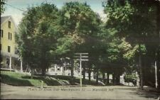 Meredith NH Main St. c1910 Postcard - Frank Swallow