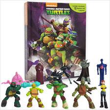 NEW TMNT Teenage Mutant Ninja TURTLES BUSY BOOK 12 FIGURINE Play Set Cake Topper