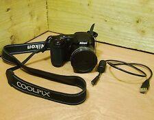 Nikon COOLPIX L340 20.2MP 28x Zoom Bridge Digital Camera Black + 4GB Card
