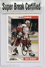 Keith Primeau 1991-92 Score - Detroit Red Wings - autographed - card #316