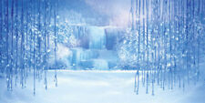Frozen Waterfall 20'x10' CP Backdrop Computer printed Scenic Background XLX-699