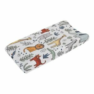 Carter's Safari Party Super Soft Plush Changing Pad Cover