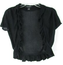 White House Black Market Women's Black Shrug Crop Sweater Size Small
