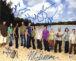 Lost Cast by 10 Autographed Signed 8x10 Photo Authentic BAS Beckett COA AFTAL