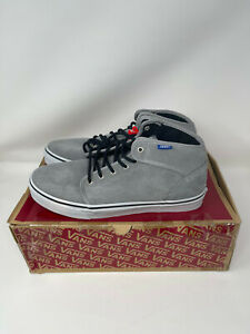 NEW with box Vans Men 106 MID Skateboarding Casual Shoes Mid Top Boots Grey 11.5