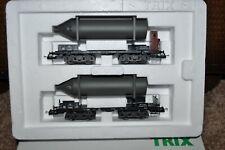 TRIX HO 23982 Carbide Cylinder Transport Car Set (Limited Item) NEW w/Box - RARE