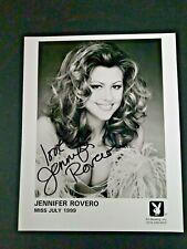 JENNIFER ROVERO Signed 8x10 Photo Autograph Playboy Miss July 1999 Model auto