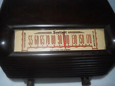 SENTINEL VINTAGE DECO BAKELITE TUBE RADIO - PLAYS!