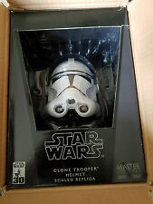 MASTER REPLICAS Star Wars CLONE TROOPER HELMET .45 SCALED ORIGINAL BOX