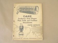 VTG Service Parts Catalog E441 Case Seedmeter Steel Hopper Plain Drills 1952