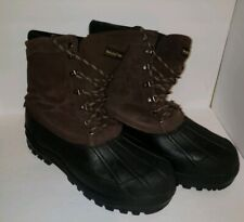 Browning Duck Boots Thermolite Insulated Hunting Leather Rubber Size 13 Brown