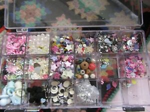 Crafting Storage Box-18 Small Compartments Embellishments-Card Making-Crafting