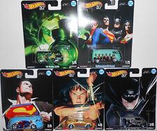 Hot Wheels 2018 Pop Culture DC Comics ALEX ROSS JUSTICE LEAGUE Complete Set (5)