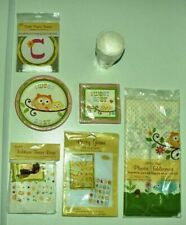 NEW Pack Happi Tree Baby Shower Cups Plates Party Bags Napkins Banner Bingo