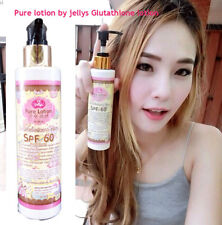 PURE LOTION SPF 60 BY JELLY GLUTATHIONE SPEED WHITENING SKIN BODY LOTION 200 ML.