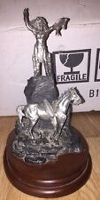 """Polland Chilmark Oh Great Spirit Fine Pewter Figure 1985 U. S. A. Horse Indian8"""""""