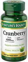Nature's Bounty Cranberry Fruit 4200 mg, Plus Vitamin C Softgels, 120 ea (2pk)
