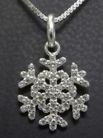 TOSH Anhänger Halskette 925 SILBER Sterling silver Kette Schneeflocke snowflake