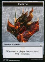 Emblem - Ob Nixilis Reignited | NM/M | Nissa vs. Ob Nixilis | Magic MTG