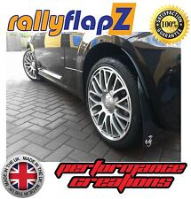 Mudflaps FIAT 500 ABARTH Mud Flaps rallyflapZ Black 'Scorp' White 4mm PVC Qty x4
