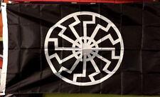 BLACK SUN SONNENRAD 3x5 FLAG BANNER thor rune asatru viking odin norse mythology