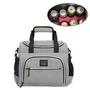 Portable Large Capacity Picnic Bag Insulated Lunch Bag Warm Food for Outdoor