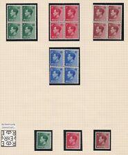Lot:38502 Gb Edward Viii 1936 definitive Mint blocks of 4 and inverted wmk sin