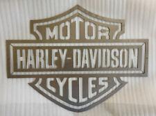 """"""" Harley Davidson """" Wandschild Schild aus EDELSTAHL 100 x 77 cm"""