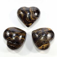 Paio 5.6cm Stromatolite Puffy Cuori Cristallo Naturale Lucidato Minerale Stone